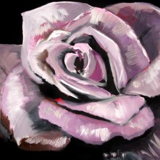 rose - acrylic