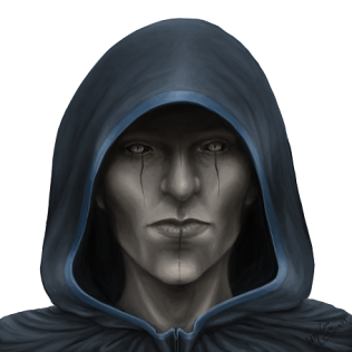 Hooded man Portrait - Copy