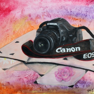 Canon Camera - Watercolor