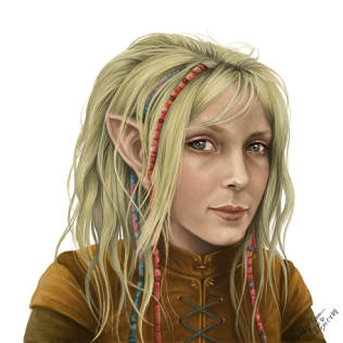 Young Hobbit Girl Portrait - Copy
